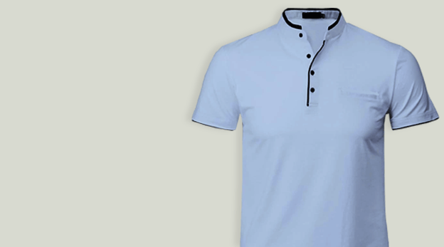 Chinese Collar T-shirt Stitching image