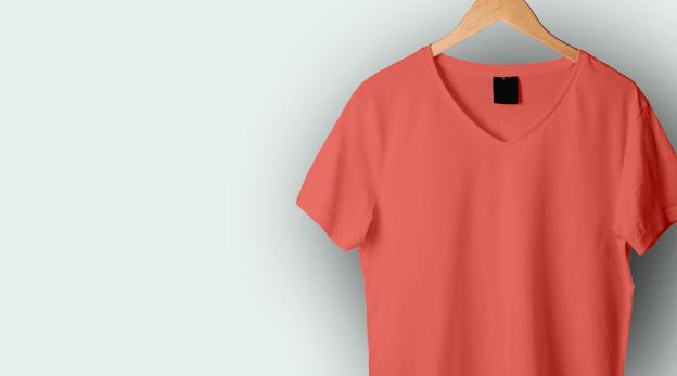 V Neck T-shirt Stitching image