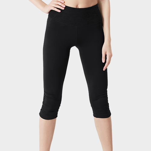 Black Capri Length Cotton Legging image