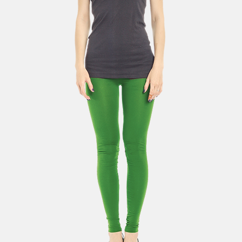 Green Full Length Poly Cotton Legging image