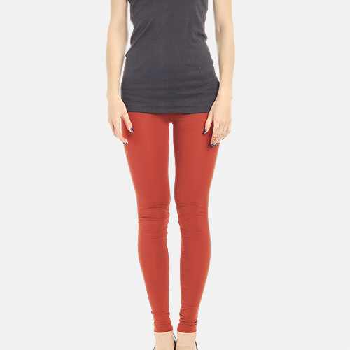 Red Full Length Poly Cotton Legging image