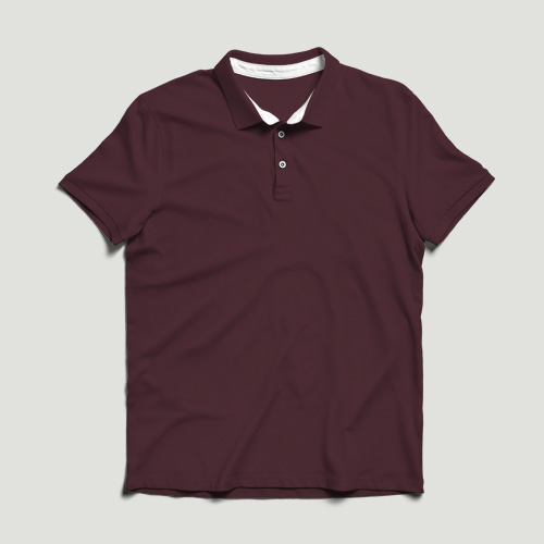Boys Polo Half Sleeves maroon image