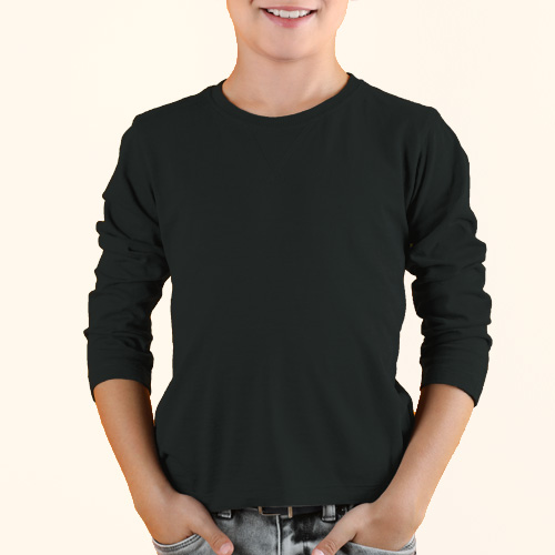 Boys Round Neck Full Sleeves Blackcurrent image