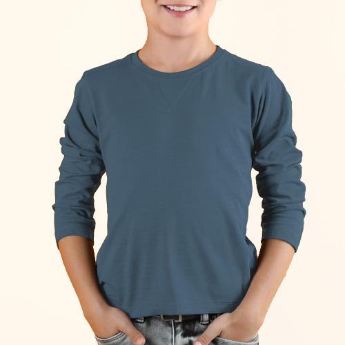 Boys Round Neck Full Sleeves Chathams Blue image