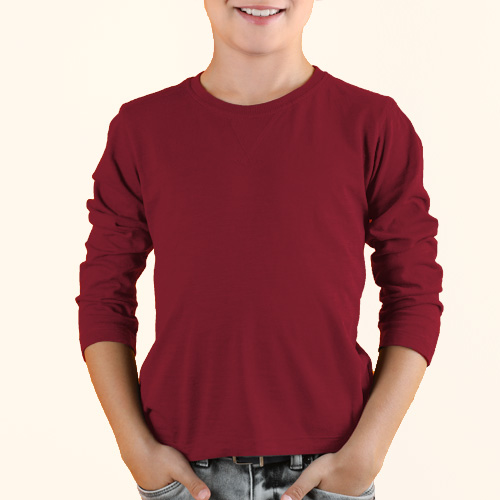 Boys Round Neck Full Sleeves Radical Red image