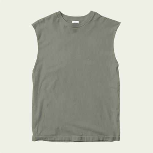 Boys Round Neck Sleeveless Dove Grey image