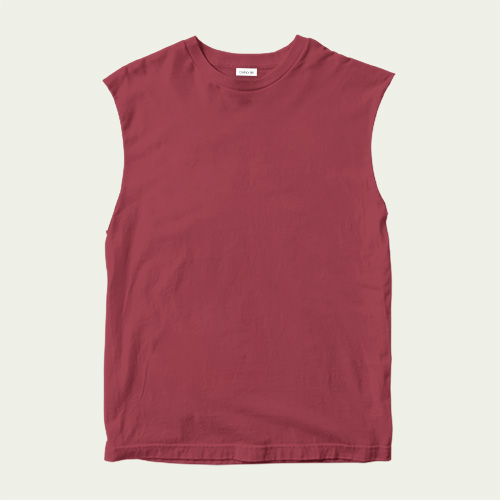 Boys Round Neck Sleeveless Radical Red image
