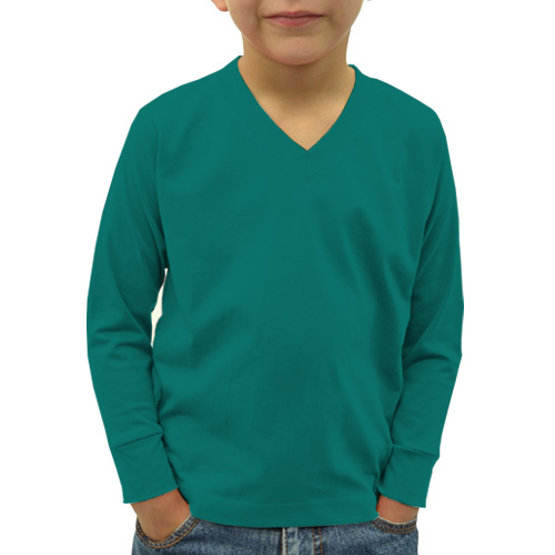 Boys V Neck Full Sleeves Aquamarine image