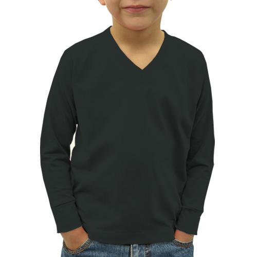 Boys V Neck Full Sleeves Blackcurrent image
