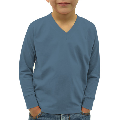 Boys V Neck Full Sleeves Chathams Blue image