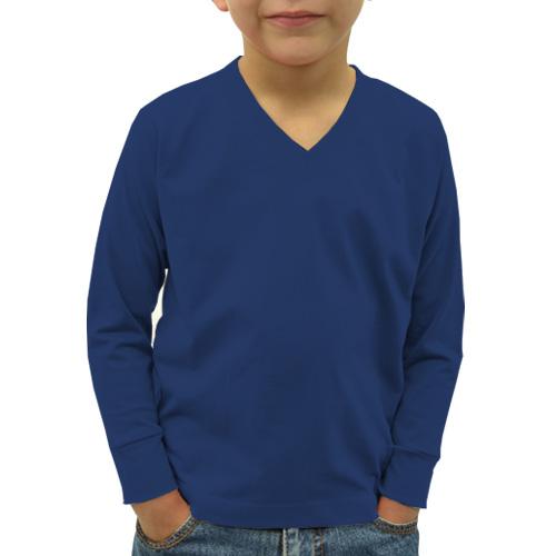 Boys V Neck Full Sleeves Dark Blue image