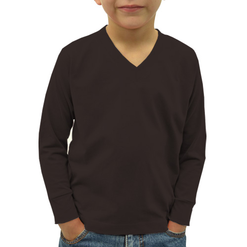 Boys V Neck Full Sleeves Dark Grey image