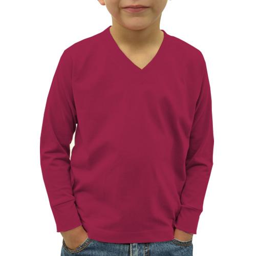 Boys V Neck Full Sleeves Pink image