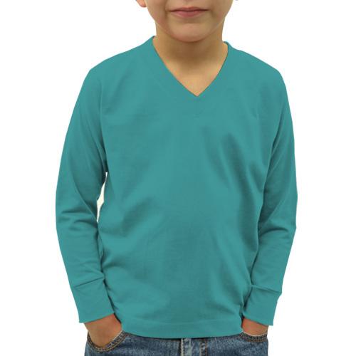 Boys V Neck Full Sleeves Sky Blue image