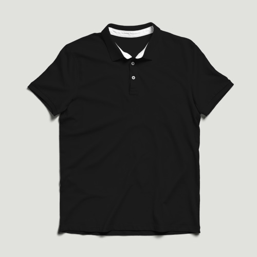 Girls Polo Half Sleeves black image