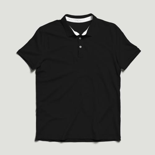 Girls Polo Half Sleeves black image