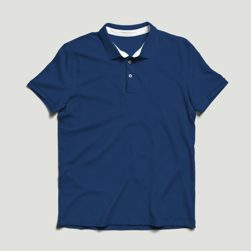 Girls Polo Half Sleeves blue image
