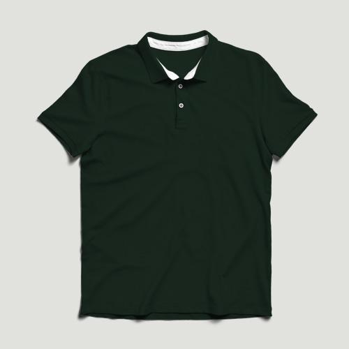 Girls Polo Half Sleeves dark-green image