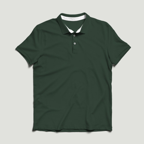 Girls Polo Half Sleeves green image