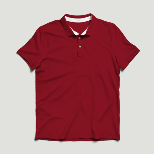 Girls Polo Half Sleeves red image