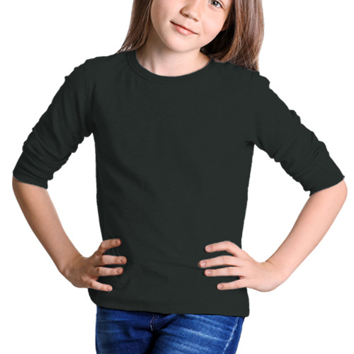 Girls Round Neck Full Sleeves Blackcurrent image