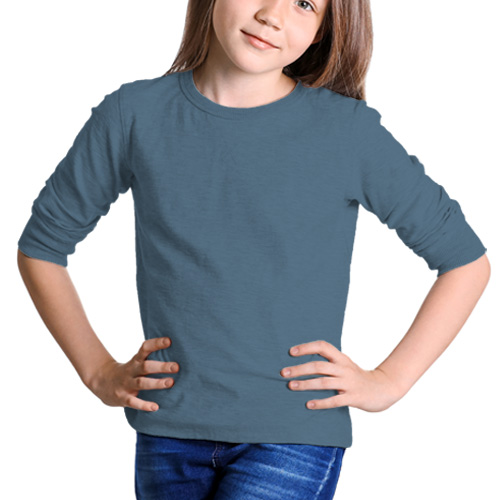 Girls Round Neck Full Sleeves Chathams Blue image