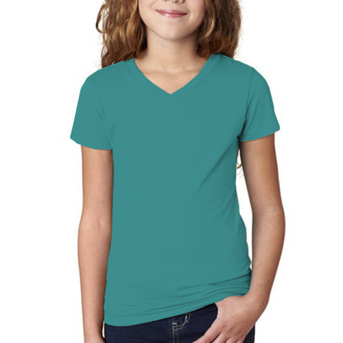 Girls Round Neck Full Sleeves Sky Blue image