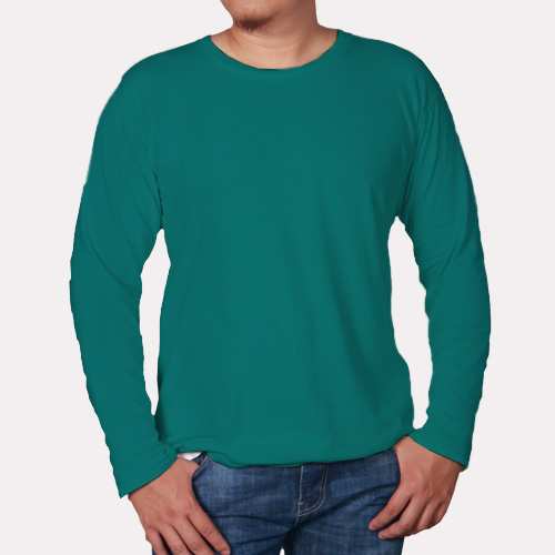 Men Round Neck Full Sleeves Aquamarine image