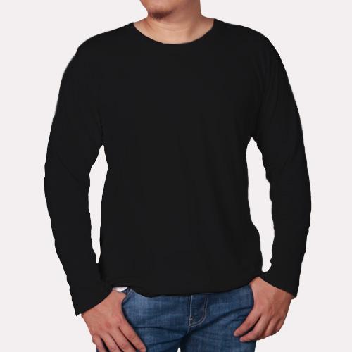 Men Round Neck Full Sleeves Black image