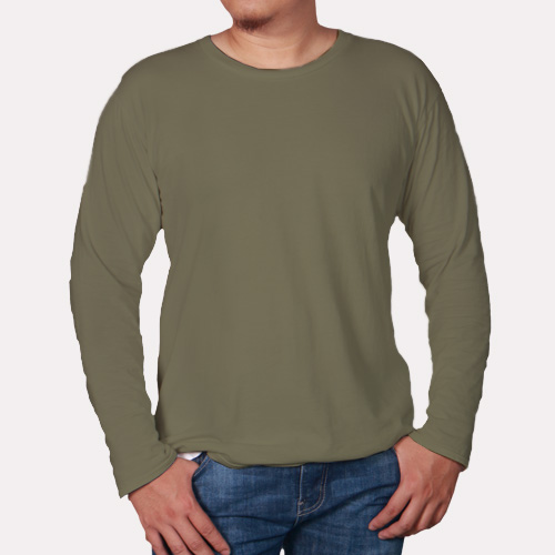 Men Round Neck Full Sleeves Cement image