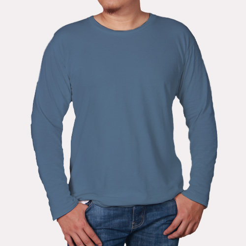 Men Round Neck Full Sleeves Chathams Blue image