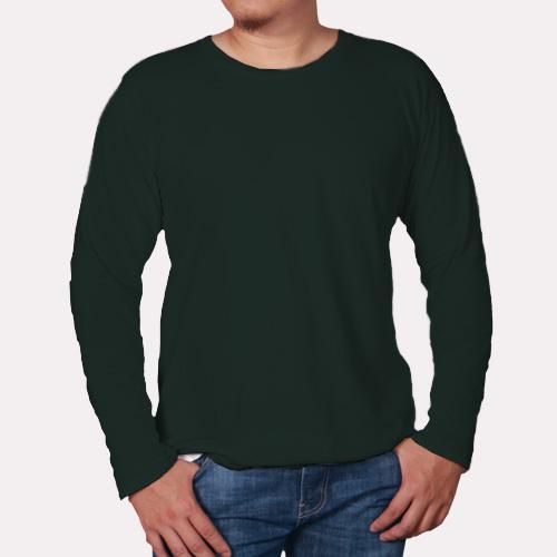 Men Round Neck Full Sleeves Dark Green image