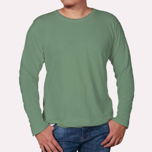 Men Round Neck Full Sleeves Green Apple image