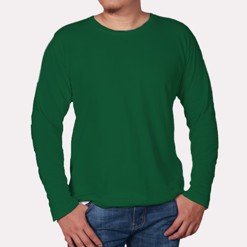 Men Round Neck Full Sleeves  Green image