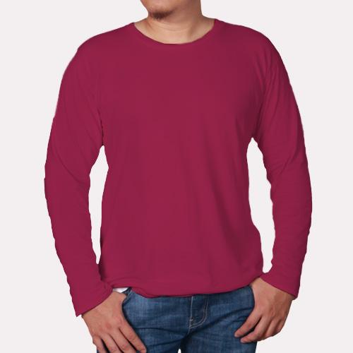 Men Round Neck Full Sleeves Pink image
