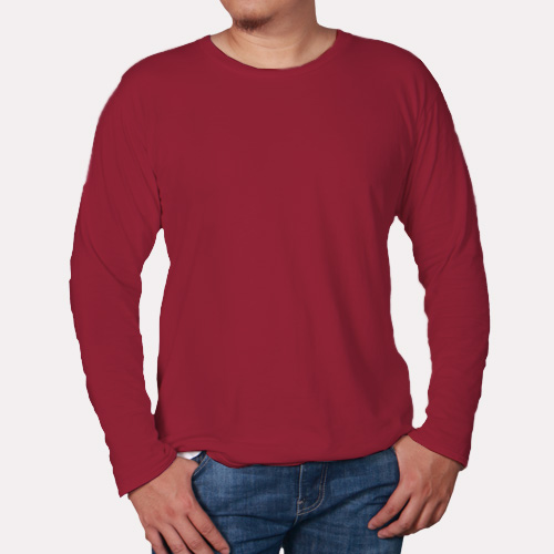 Men Round Neck Full Sleeves Radical Red image