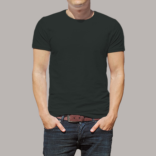 Men Round Neck Half Sleeves Blackcurrent image