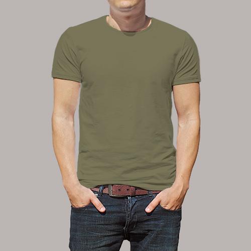 Men Round Neck Half Sleeves Cement image