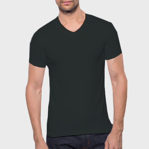 Men V Neck Half Sleeves Blackcurrent image