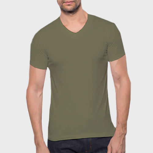 Men V Neck Half Sleeves Cement image