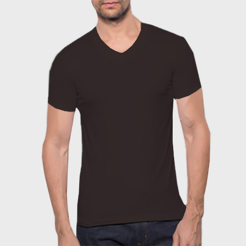 Men V Neck Half Sleeves Dark Grey image