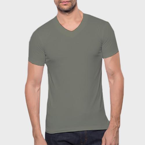 Men V Neck Half Sleeves Dove Grey image