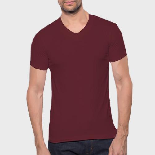 Men V Neck Half Sleeves Maroon image