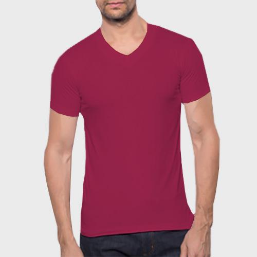 Men V Neck Half Sleeves Pink image