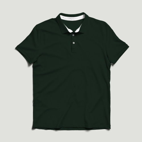 Women Polo Half Sleeves dark-green image