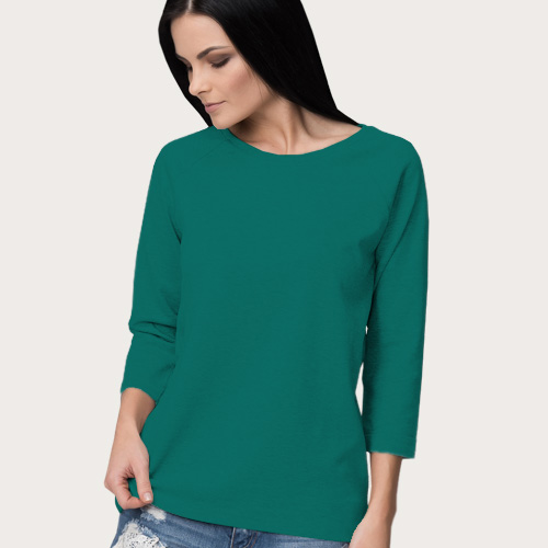Women Round Neck Full Sleeves Aquamarine image