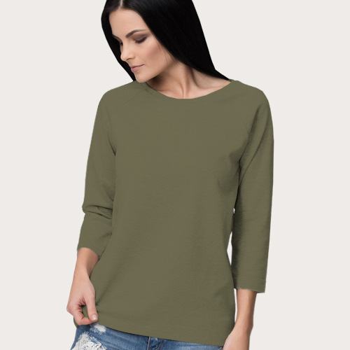 Women Round Neck Full Sleeves Cement image