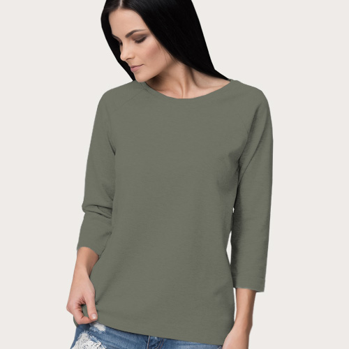 Women Round Neck Full Sleeves Dove Grey image