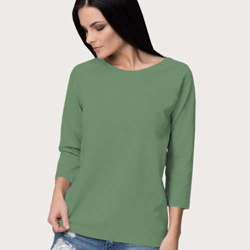 Women Round Neck Full Sleeves Green Apple image