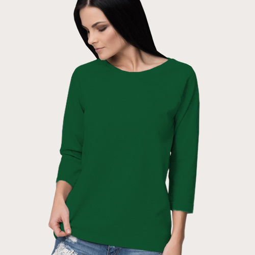 Women Round Neck Full Sleeves  Green image